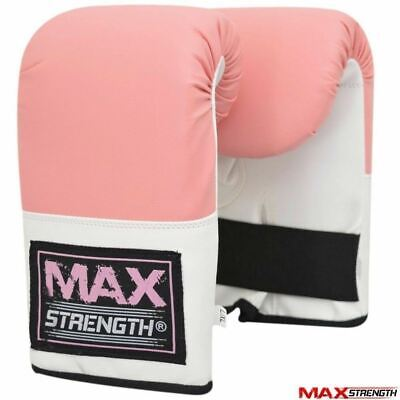 Ladies Boxing Gloves Grappling MMA Womens Punch Gym Pro Kick Training Pink Mitts