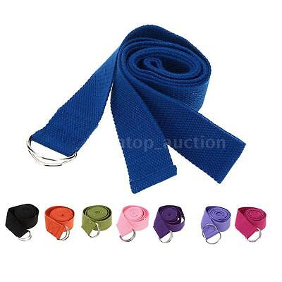 183 * 3.8cm Stretch Yoga Belt Strap Pilates Exercise 8 Colors for Optional J18N