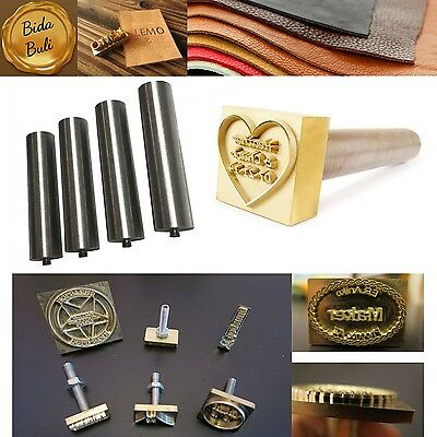 Custom Made Design Logo Leather Stamp Carving Tools Branding Iron Mold Plate