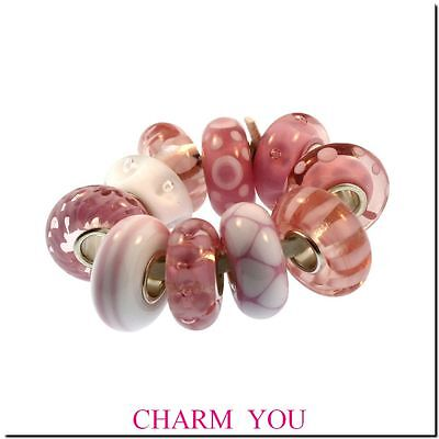 Authentic Trollbeads Empowerment Bead Limited Edition Breast Cancer *