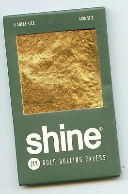 Shine 24K Gold Tyga King Size rolling papers 6-Sheet pack