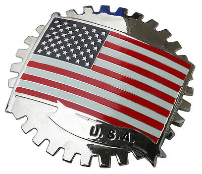 USA - American flag stars and stripes car grille badge