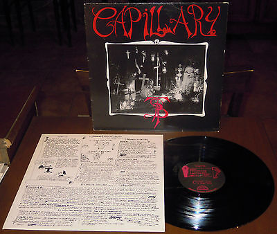 LP CAPILLARY s/t (Minotauro 89) obscure Italian demential gothic metal inner NM!