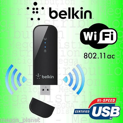 Belkin WiFi **SUPER FAST 867Mbps** Wireless AC950 Dual Band USB Adapter Dongle