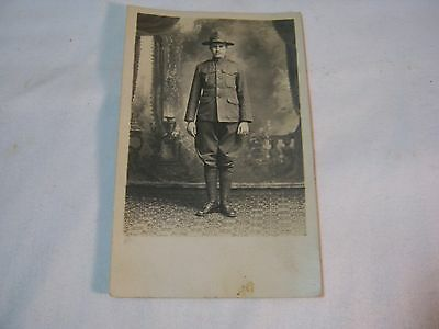 Early 1900'S Photo Postcard With U.s. Military Soldier      T*