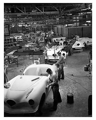 1954 Kaiser Darrin Final Assembly Line Factory Photo ub4308-CVXAVA