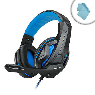 PC Gaming Headset with Comfortable Ear Padding and Adjustable Mic