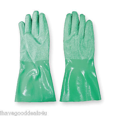 B9S1 12 Pair PPE Nitrile Rugged Chemical Resistant Flocked Work Gloves Size 11