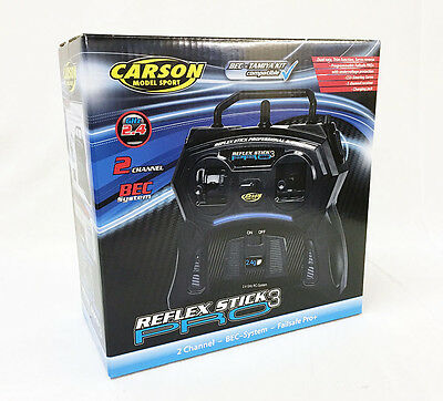 500707122 CARSON REFLEX PRO 3 STICK RADIO 2 CHANNEL 2.4GHz for RADIO CONTROL R/C
