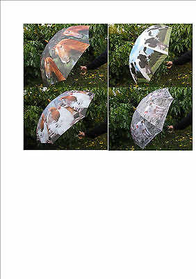 Large Farm Animal Print Design Automatic Umbrella