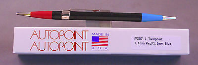 Autopoint Twinpoint  Pencil  l.lmm red----l.lmm blue---AMERICAN MADE #207