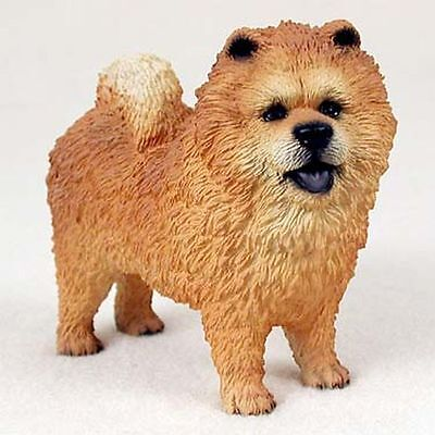 CHOW Red Hand Painted Canine Collectable Figurine Statue