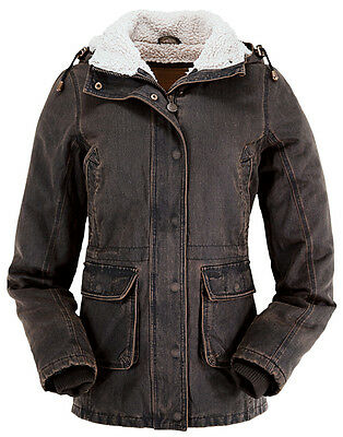 Ladies Womens Outback Woodbury Sherpa Lined Removable Hood Winter Coat Jacket