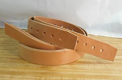 NEW Amish Handmade Genuine USA Leather 2-inch STIRRUP STRAPS_LIGHT OIL TAN COLOR