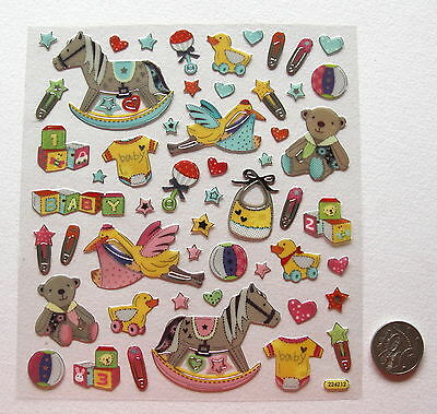 Scrapbooking No 406 - 35+ Small New Baby Boy And Girl Stickers