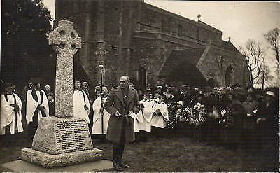 Great Paxton near St Neots. War Memorial Ceremony by Harvey O'Dell, Bedford.