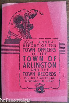 Town of Arlington Ma 1967 Annual Report (400-page book)