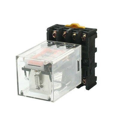 Motor Control 8Pin 2P2T DIN Rail Electromagnetic Power Relay DC12V Coils