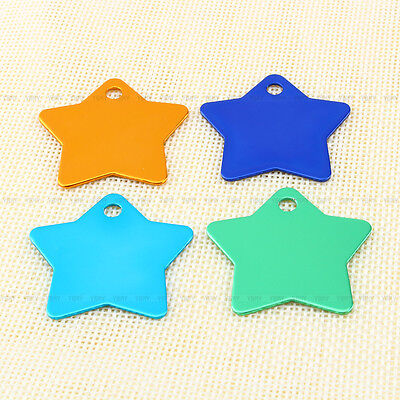 Multicolor Personalized DIY Engraved Pet ID Tag Dog Cat Animal Name Tag Necklace