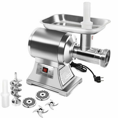 New Commercial Stainless Steel True 1HP Electric Meat Grinder No #12