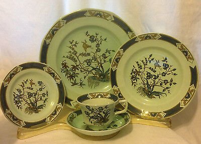 ADAM CALYX WARE MING TOI BLUE 5 PIECE PLACE SETTING WEDGWOOD GROUP IRONSTONE vtm