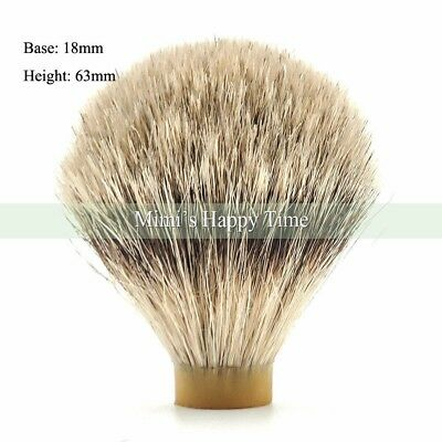 100% Silvertip Badger Hair Shaving beard Brush Knot - 18/63MM knot