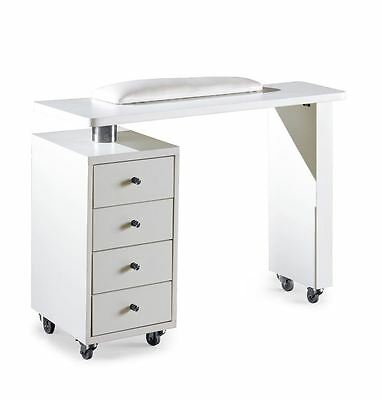 Urbanity Rio professional nail station salon manicure polish table desk white
