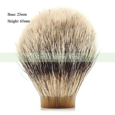 First Class Badger Hair Silvertip Shaving Brush Knot -23/65MM for 24mm handle