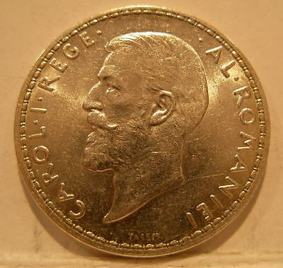Romania 1914 Silver 1 Leu Choice UNC