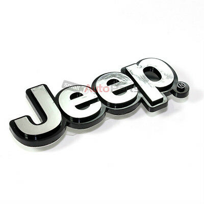 Jeep Chrome ABS 3D Emblem-Badge-Nameplate Letters for Front Hood or Rear Trunk