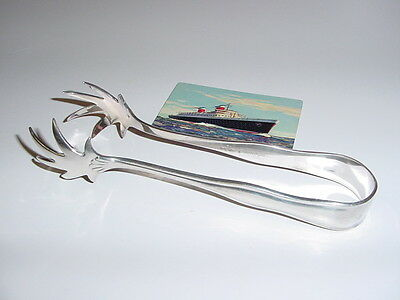 SS UNITED STATES LINES  Silver Ice-Tongs  /  Mint Condition