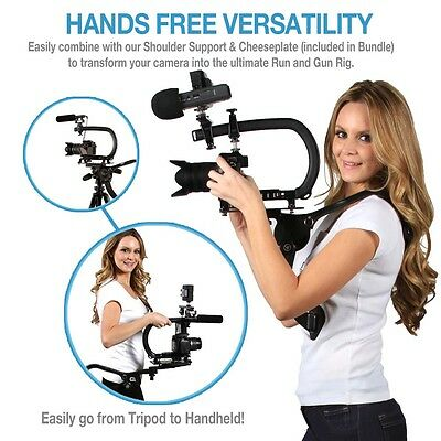 Universal DSLR Shoulder Support & Camera Stabilizer For GoPro Canon T3i T4i Sony
