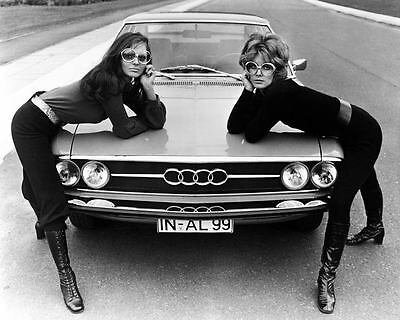 1968 NSU Audi and Women Models Factory Photo ua9011-R4FDGI