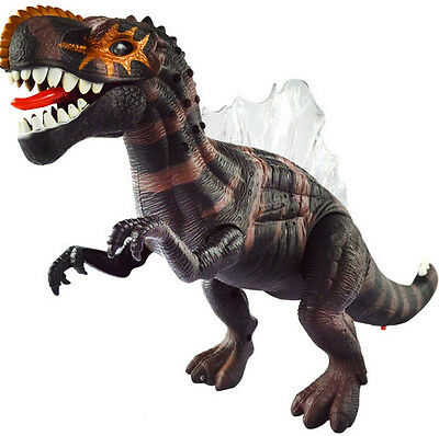 Kids Walking Dinosaur Spiny lizard Toy Figure Lights&Sounds Real Movement