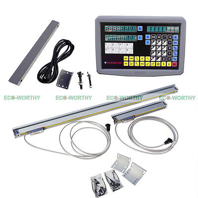2 Axis Digital Readout and TTL Linear Scale 9x42 DRO Kits for CNC Mill Cutting