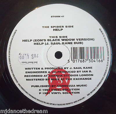 "THE SPIDER ~ Help ~ 12"" Single"