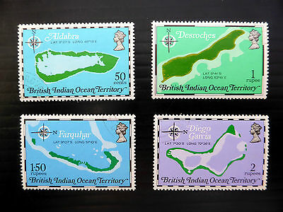 BRITISH INDIAN OCEAN TERRITORY 1975 Maps SG81/4 NEW LOWER PRICE P4835