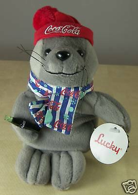 Coca Cola Coke Lucky the Seal Plush Bean Bag Stuffed Animal 0210 1999 with TAG