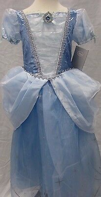 Disney Store Princess Cinderella Dress Gown Child Girl's Costume 7/8 9/10
