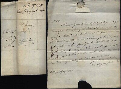 1795 BELFORD p/m Letter Oswald Younghusband to Thomas Adams of Alnwick