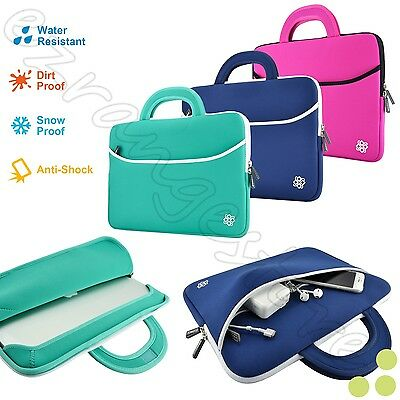 """Slim 14"""" Inch Sleeve Carrying Case Cover Bag Handle for  14"""" 14.1"""" Inch Laptop"""