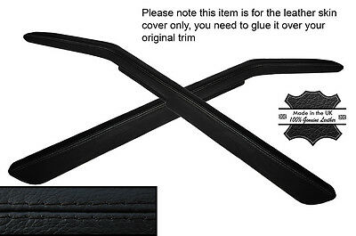 black stitch FITS VW TOUAREG 2002-2011 LEATHER ARMREST COVER ONLY