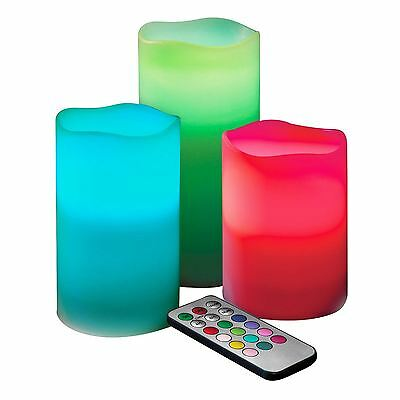 Jml Mood Magic Led Colour Changing Candles With Timer & Flame Flicker Functions