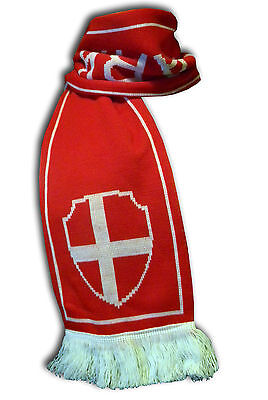 Official Denmark Danmark soccer football knitted supporter fan scarf ultras