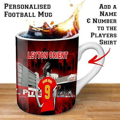 Personalised LEYTON ORIENT Womens Football Cup Ladies Gift Mug