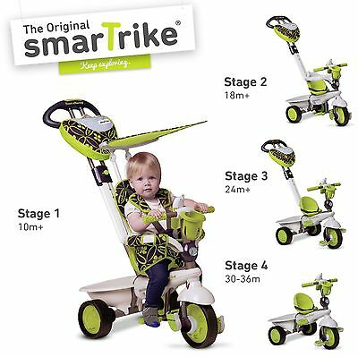 Smart Trike Dream Touch Steering 4-in-1 Babies Tricycle Green NEW