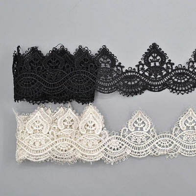 1 Yard Lace Trim Ribbon For Wedding Bridal Dress Embroidered DIY Sewing Craft