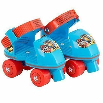 Paw Patrol Children Kids Quad Adjustable Roller Skates For Beginners(Blue & Red)