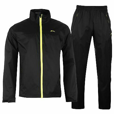 Slazenger Mens Waterproof Packable Suit Golf Jacket Coat Top Pants Sports
