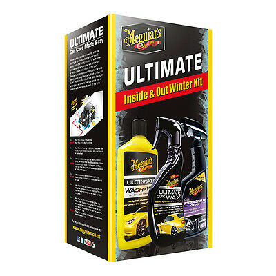 Meguiars Ultimate Inside and Out Winter Kit Wash Wax Quik Interior Detailer